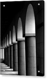 Arches And Columns 1 Acrylic Print by John Gusky