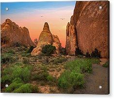 Arches National Park Sunset Acrylic Print