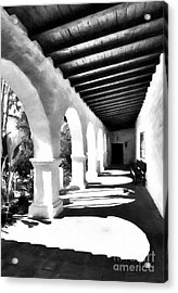 Arches Of Southern California Bw Acrylic Print by Mel Steinhauer