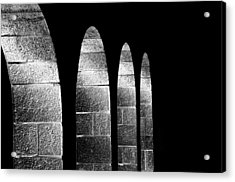 Arches Per Israel - Black And White Acrylic Print by Deb Cohen