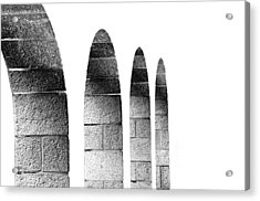 Arches Per Israel - White And Black Acrylic Print by Deb Cohen