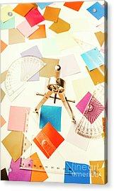 Architects Colour Pallet Acrylic Print