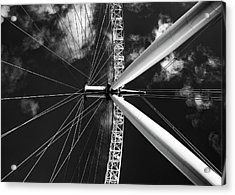 Acrylic Print featuring the photograph Architectural Details Of The Metallic Structure Of A Ferris Whee by Michalakis Ppalis