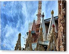 Architectural Details Of The Sagrada Familia Acrylic Print