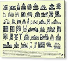 Architectural Icons Of India - Large Acrylic Print