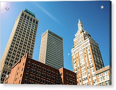 Architecture And Skyscrapers Of The Tulsa Skyline Acrylic Print