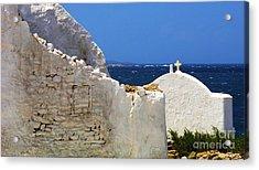 Architecture Mykonos Greece 2 Acrylic Print by Bob Christopher