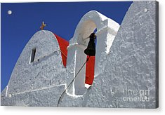 Architecture Mykonos Greece Acrylic Print by Bob Christopher