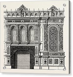 Architecural Plan For The Side Of A Library Acrylic Print