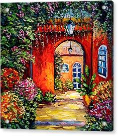 Archway Garden Acrylic Print by Beata Sasik