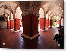 Acrylic Print featuring the photograph Archway Paintings At Santa Catalina Monastery by Aidan Moran