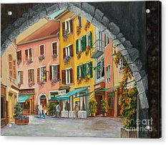 Archway To Annecy's Side Streets Acrylic Print