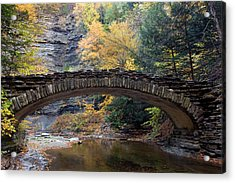 Acrylic Print featuring the photograph Archway To Autumn by Timothy McIntyre