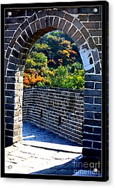 Archway To Great Wall Acrylic Print by Carol Groenen