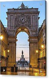 Arco Da Rua Augusta At Sunrise Acrylic Print