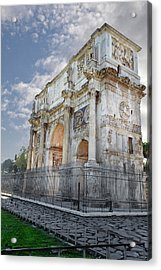 Acrylic Print featuring the photograph Arco Di Costantino by John Hix