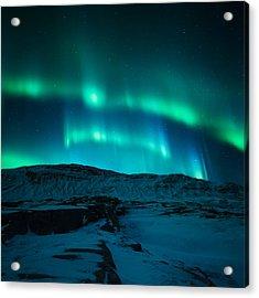 Arctic Glow Acrylic Print by Tor-Ivar Naess