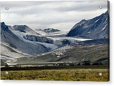 Acrylic Print featuring the photograph Arctic Man Glacier by Adam Owen
