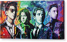 Acrylic Print featuring the painting Arctic Monkeys by Richard Day