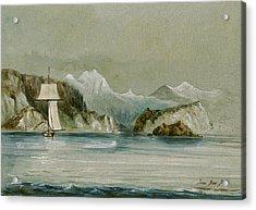 Arctic Seascape Acrylic Print by Juan  Bosco