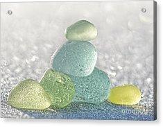 Arctic Spring Sea Glass Acrylic Print