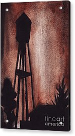 Ardmore Watertower Acrylic Print by Ron Erickson