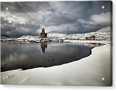 Acrylic Print featuring the photograph Ardvreck Castle In Winter by Grant Glendinning