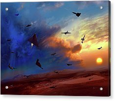 Acrylic Print featuring the painting Area 51 Groom Lake by Dave Luebbert