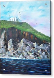 Arecibo Lighthouse Acrylic Print by Tony Rodriguez