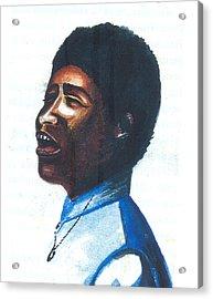 Acrylic Print featuring the painting Aretha Franklin by Emmanuel Baliyanga