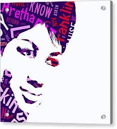 Aretha Franklin Respect Acrylic Print