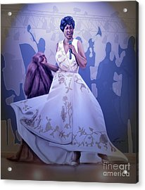 Aretha Franklin Rock Steady Acrylic Print