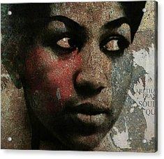 Aretha Franklin - Tribute Acrylic Print