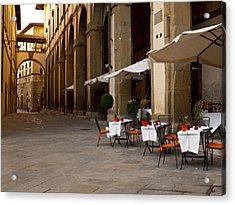 Arezzo Patio Acrylic Print by Rae Tucker