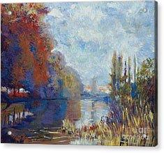 Argenteuil On The Seine - Sur Les Traces De Monet Acrylic Print