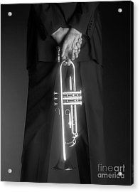 Ari And Trumpet Acrylic Print