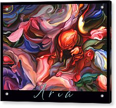 Aria - Original Acrylic Painting With Added Border-title Acrylic Print