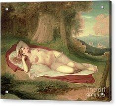 Ariadne Asleep On The Island Of Naxos Acrylic Print by John Vanderlyn