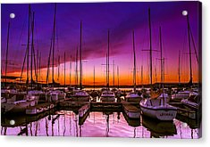 Ariana's Sunset Acrylic Print by TK Goforth