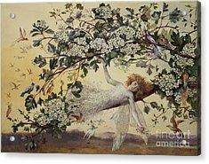 Ariel Acrylic Print by John Anster Fitzgerald