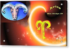Acrylic Print featuring the painting Aries by The Art of Alice Terrill
