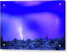 Arizona Blue Hour Desert Storm Acrylic Print by James BO Insogna