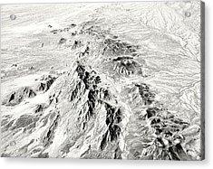 Arizona Desert In Black And White Acrylic Print
