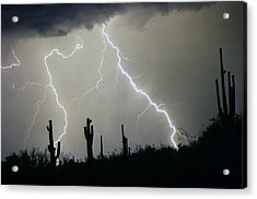 Arizona Desert Storm Acrylic Print by James BO  Insogna