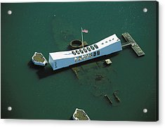Arizona Memorial Aerial Acrylic Print