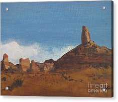 Acrylic Print featuring the painting Arizona Monolith by Suzette Kallen