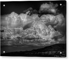 Arizona Monsoon Black And White Acrylic Print