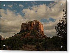 Acrylic Print featuring the photograph Arizona Red Rocks Sedona 0222 by David Haskett