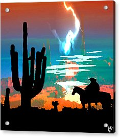 Acrylic Print featuring the photograph Arizona Skies by Ken Walker