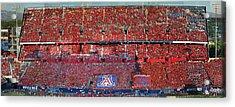 Arizona Stadium Triptych Part 1 Acrylic Print by Stephen Farley